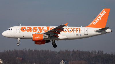 A picture of GEZAO - Airbus A319111 - easyJet - © Łukasz Stawiarz