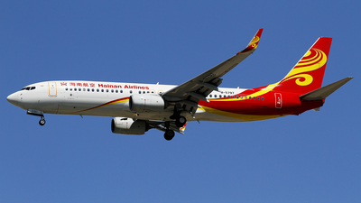 A picture of B5797 - Boeing 73784P - Hainan Airlines - © wangpaul
