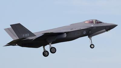 F-013 - Lockheed Martin F-35A Lightning II - Netherlands - Royal Air Force