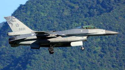 6691 - Lockheed Martin F-16AM Fighting Falcon - Taiwan - Air Force