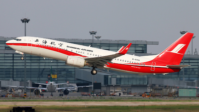 A picture of B5703 - Boeing 73789P - Shanghai Airlines - © cmqmc