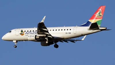 ZS-YBB - Embraer 170-100SL - Airlink