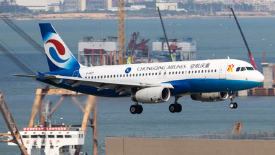 A picture of B1827 - Airbus A320232 - Chongqing Airlines - © MAJOREDM