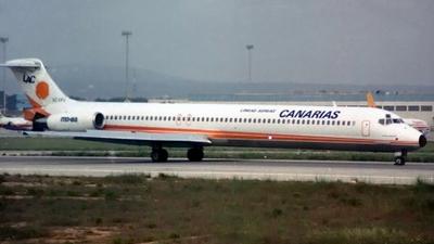 EC-EFU - McDonnell Douglas MD-83 - Lineas Aereas Canarias (LAC)