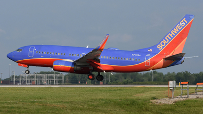 A picture of N7702A - Boeing 7377BD - Southwest Airlines - © DJ Reed - OPShots Photo Team