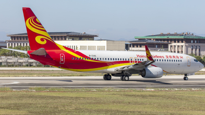 A picture of B1346 - Boeing 73784P - Hainan Airlines - © Eric Wang