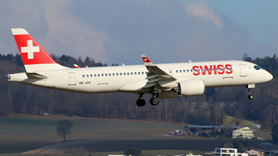 A picture of HBJCK - Airbus A220300 - Swiss - © Brian T Richards