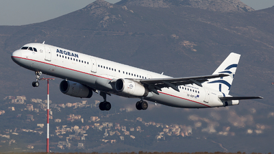 A picture of SXDGP - Airbus A321232 - Aegean Airlines - © Oksana