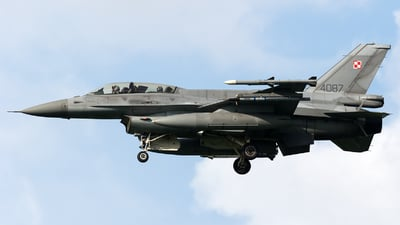 4087 - Lockheed Martin F-16D Fighting Falcon - Poland - Air Force