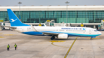 A picture of B7823 - Boeing 73785C - Xiamen Air - © Yan Shuai