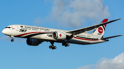A picture of S2AJX - Boeing 7879 Dreamliner - Biman Bangladesh Airlines - © Leo Sheng