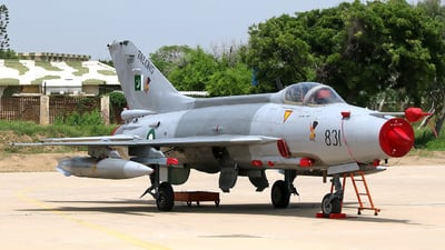 02-831 - Chengdu F-7PG - Pakistan - Air Force