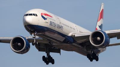 A picture of GSTBC - Boeing 77736N(ER) - British Airways - © Piotr Persona