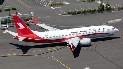 A picture of B20A3 - Boeing 737 MAX 8 - Shanghai Airlines - © xuxinyi1000