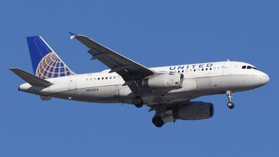A picture of N833UA - Airbus A319131 - United Airlines - © DJ Reed - OPShots Photo Team