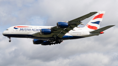 G-XLED - Airbus A380-841 - British Airways