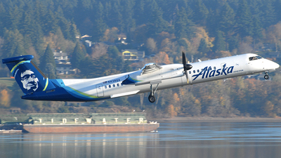 A picture of N438QX - De Havilland Canada Dash 8400 - Alaska Airlines - © Jason Whitebird