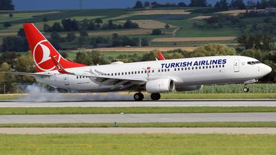 A picture of TCJZN - Boeing 7378JP - Turkish Airlines - © Eddie Heisterkamp