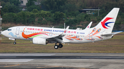 B-5809 - Boeing 737-79P - China Eastern Airlines