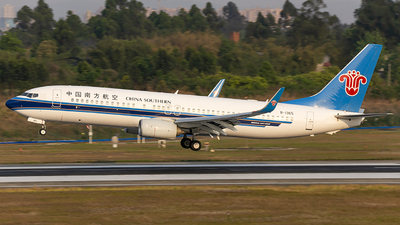 A picture of B1365 - Boeing 73781B - China Southern Airlines - © XieTM