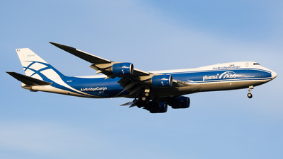 A picture of VQBRJ - Boeing 7478HV(F) - AirBridgeCargo Airlines - © CHEN SHUO