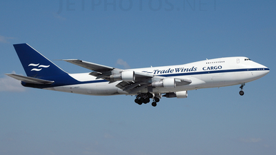 N923FT - Boeing 747-2U3B(SF) - TradeWinds Airlines