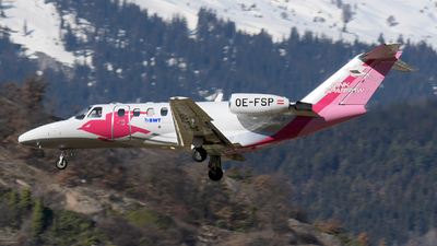 A picture of OEFSP - Cessna 525A CitationJet CJ2 - Pink Sparrow - © Paul Denton