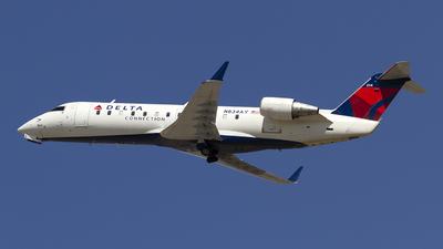 A picture of N834AY - Mitsubishi CRJ200LR - Delta Air Lines - © Jeremy D. Dando