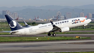 A picture of B20F0 - Boeing 7378JP - Shandong Airlines - © BCG554