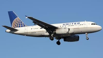 A picture of N804UA - Airbus A319131 - United Airlines - © Xiamen Air 849 Heavy