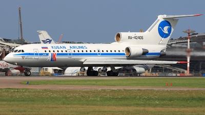 RA-42406 - Yakovlev Yak-42D - Kuban Airlines (ALK)