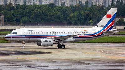 B-4091 - Airbus A319-115 - China - Air Force