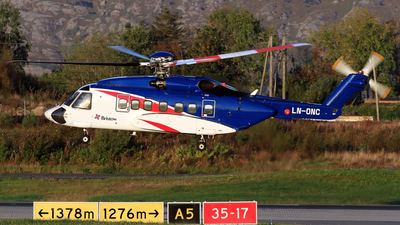 A picture of LNONC - Sikorsky S92A - Bristow Helicopters - © Eddie Heisterkamp