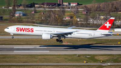 A picture of HBJNA - Boeing 7773DE(ER) - Swiss - © Marcel Moser