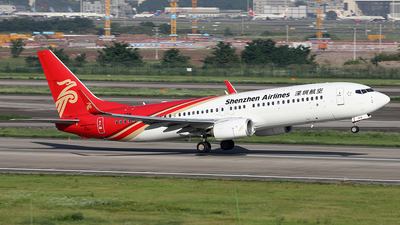 A picture of B1478 - Boeing 73787L - Shenzhen Airlines - © YIJING HOU