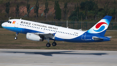 A picture of B6191 - Airbus A319132 - Chongqing Airlines - © SEN BAI