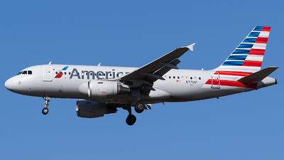 A picture of N771XF - Airbus A319112 - American Airlines - © Evan Dougherty