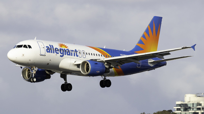 A picture of N318NV - Airbus A319111 - Allegiant Air - © Brandon Ravelo