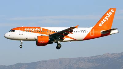 A picture of GEZBC - Airbus A319111 - easyJet - © Javier Rodriguez - Amics de Son Sant Joan