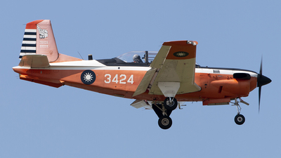 3424 - Beechcraft T-34C Turbo Mentor - Taiwan - Air Force