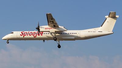 A picture of VTSUY - De Havilland Canada Dash 8400 - SpiceJet - © Sanskar nawani