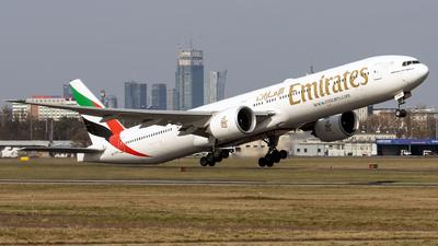 A picture of A6ENX - Boeing 77731H(ER) - Emirates - © Grzesiek Krupa