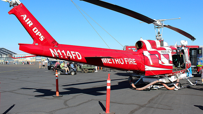 N114FD - Bell UH-1H Iroquois - United States - Sacramento Metro Fire District