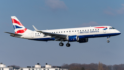 A picture of GLCYM - Embraer E190SR - British Airways - © J.Evrard-AirTeamImages