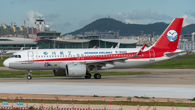 A picture of B8949 - Airbus A320271N - Sichuan Airlines - © ArticleYeung