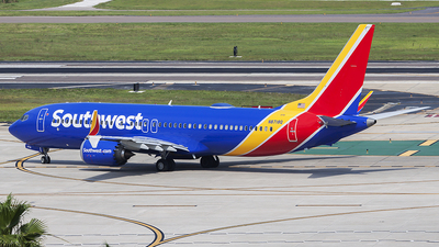 A picture of N8718Q - Boeing 737 MAX 8 - Southwest Airlines - © Bruce Leibowitz