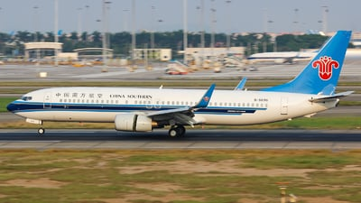 A picture of B5596 - Boeing 73781B - China Southern Airlines - © Lywings