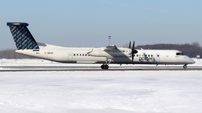 A picture of CGKQC - De Havilland Canada Dash 8400 - Porter Airlines - © Guy Langlois