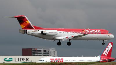 PR-OAG - Fokker 100 - Avianca Brasil