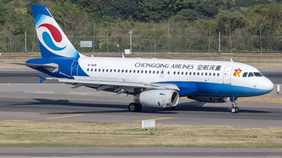 A picture of B6191 - Airbus A319132 - Chongqing Airlines - © Eric Wang